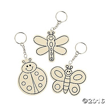 DIY Wooden Bugs Key Chains - 12pk