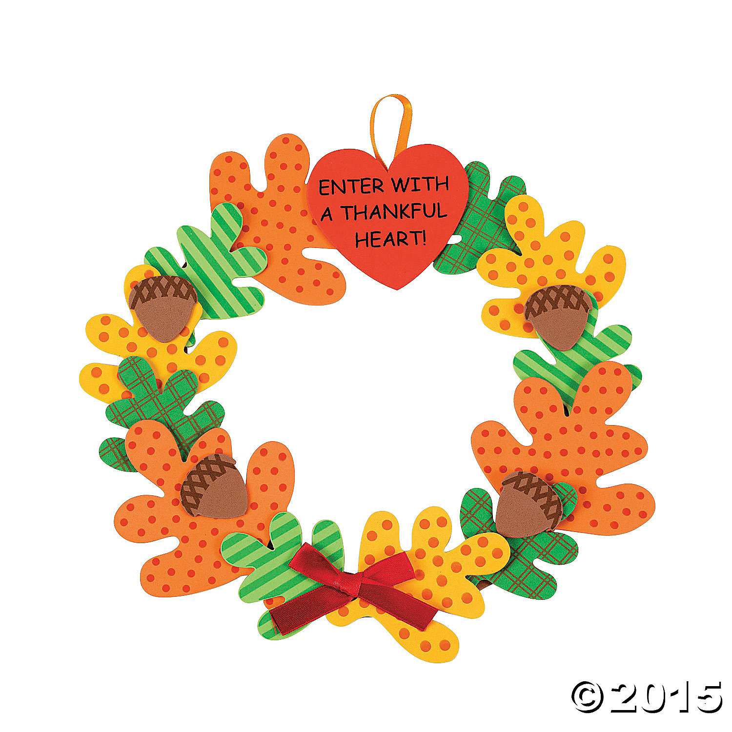 Enter with a Thankful Heart Wreath Craft Kit 12 Pk