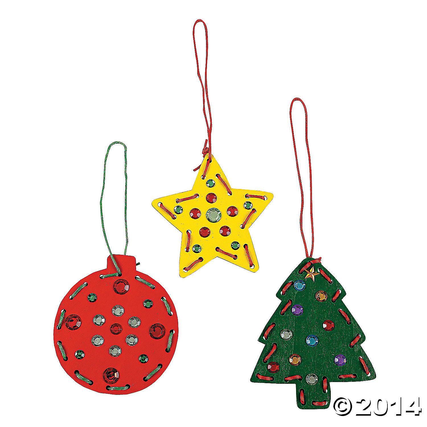 Christmas Lacing Ornament Craft Kit - 12 Pk Party Supplies Canada ...
