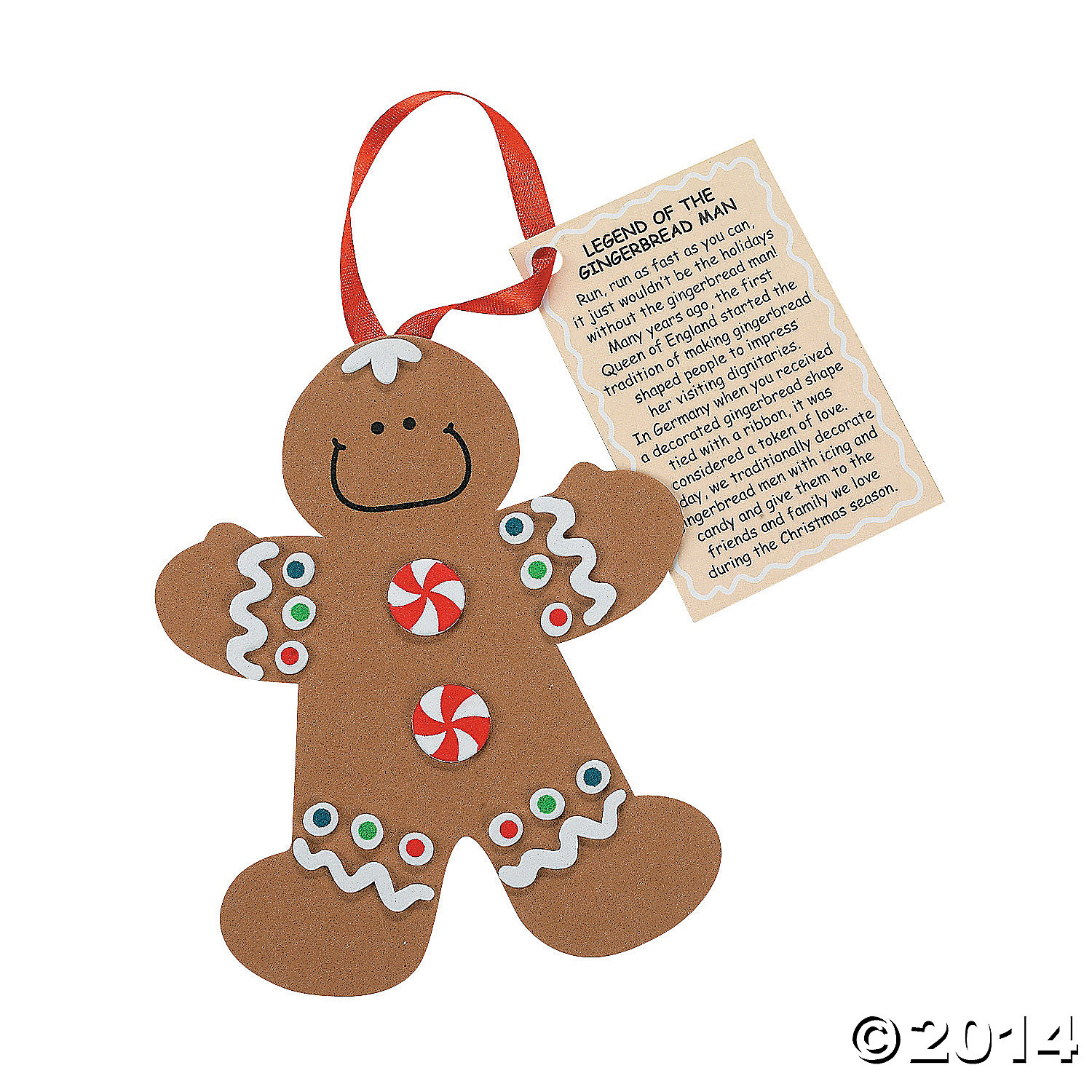 Gingerbread man ornament craft - Legend Of The Gingerbread Man Ornament Craft Kit 12pk Party Supplies Canada Open A Party