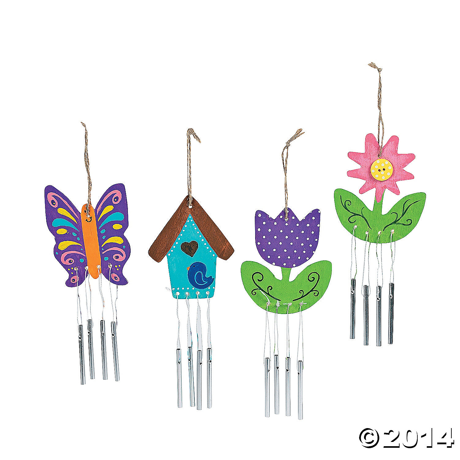 DIY Unfinished Wood Wind Chimes 12pk