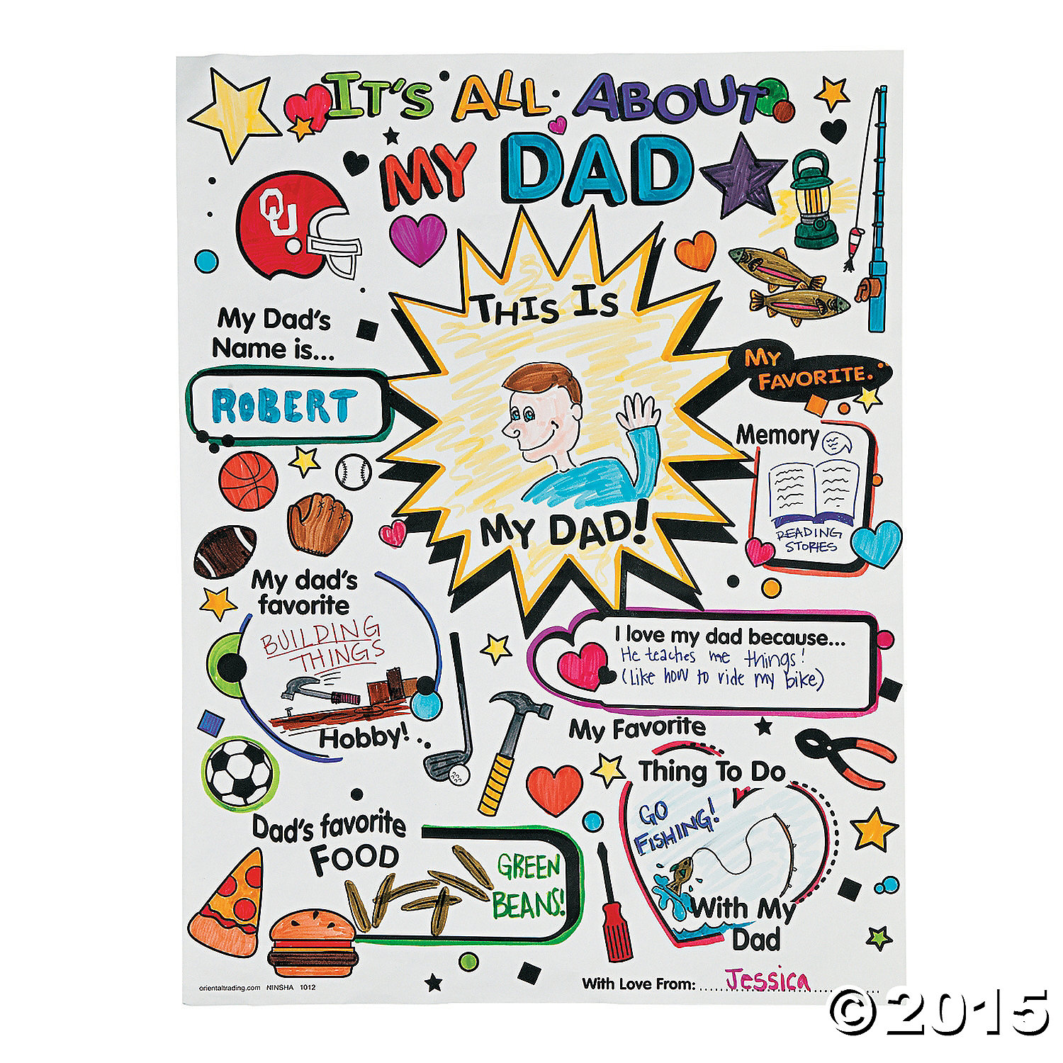 "Color Your Own ""All About Dad"" Posters 30pk"