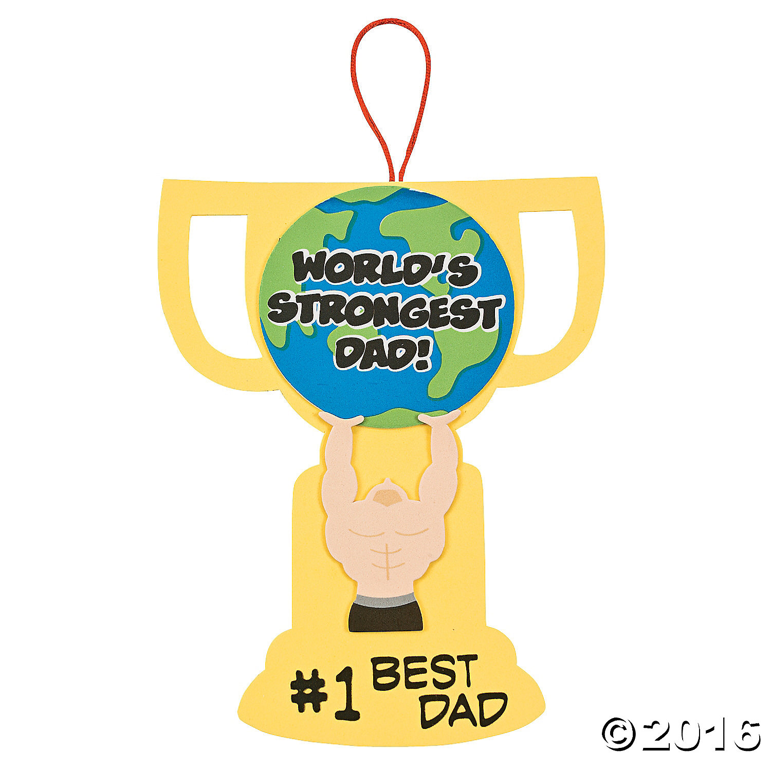 """World's Strongest Dad"" Sign Craft Kit - 12 Pk"