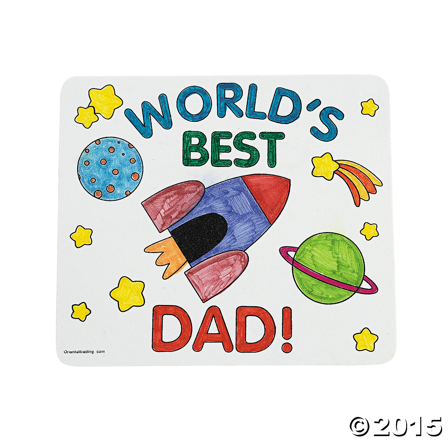 Color Your Own Father's Day Mouse Pads - 12 Pk