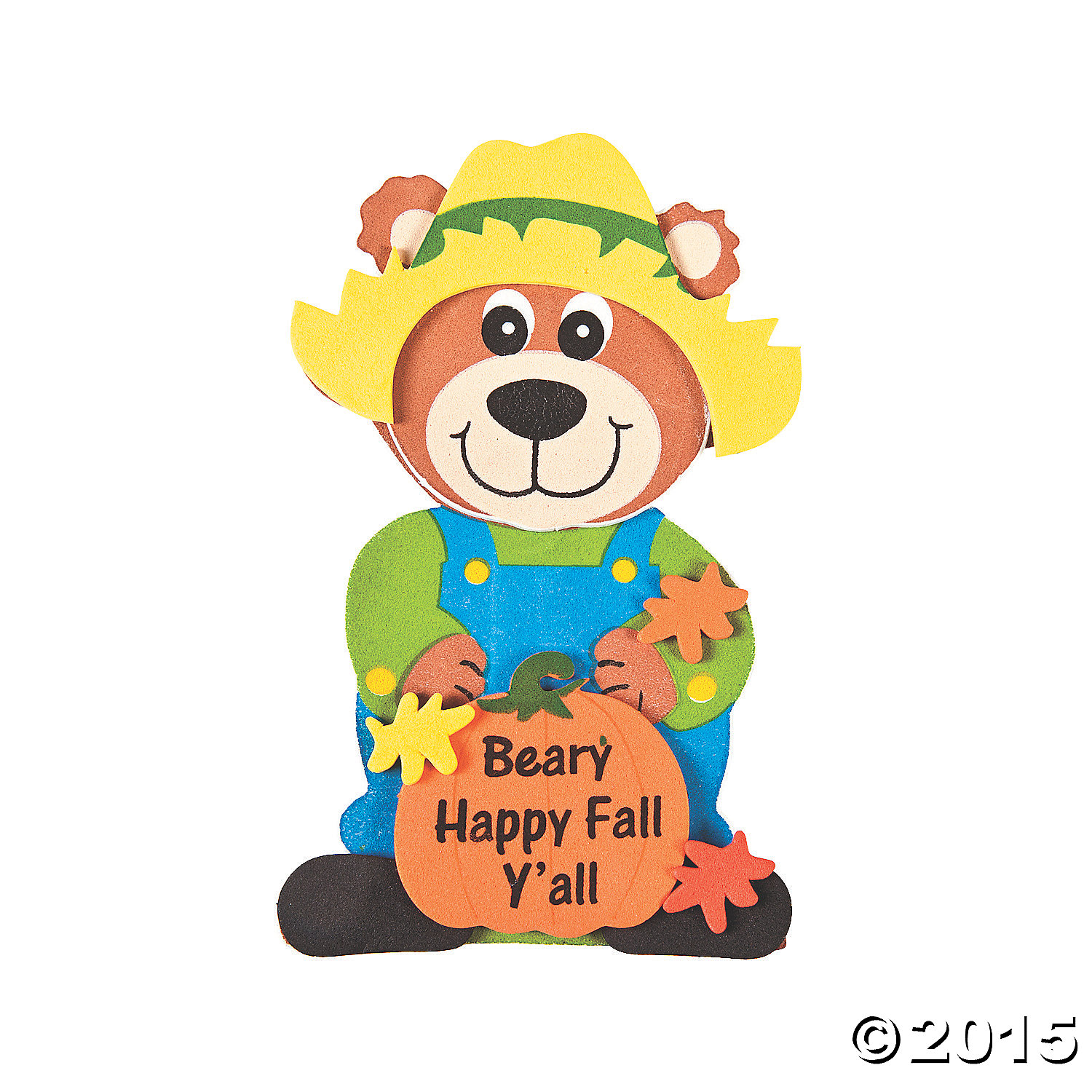 """Beary Happy Fall Y'all"" Magnet Craft Kit 12 Pk"