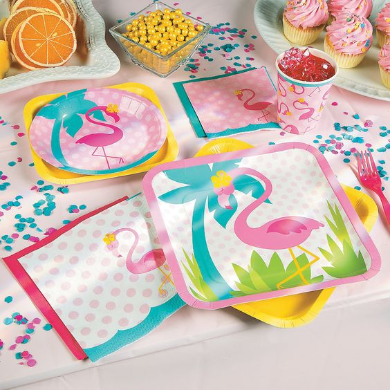 Flamingo Party Pack For 16