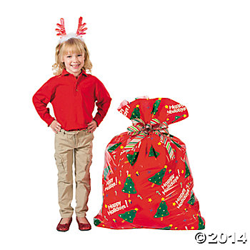 Giant 4 Foot Holiday Bags - 12 Pack