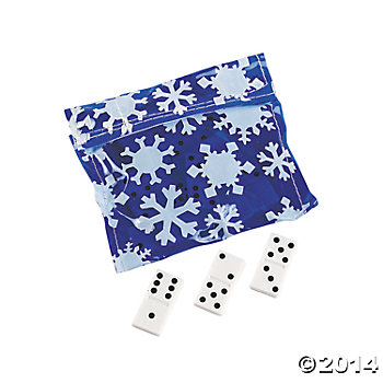 Snowflake Domino Sets in Vinyl Cases - 12 Pk