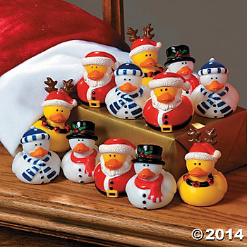 Holiday Rubber Duckies - 12 Pk