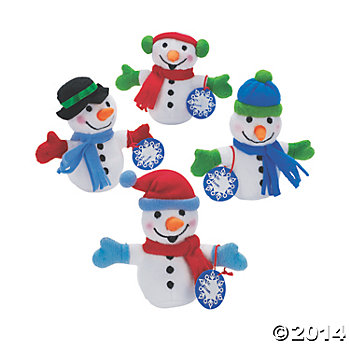 Plush Exchange Bean Bag Snowmen - 24 Pk