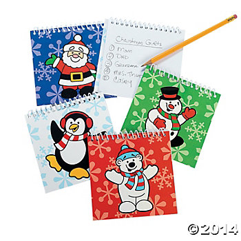 Holiday Spiral Notepads - 24 Pk