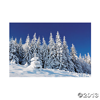 Winter Scene Backdrop 9 Ft by 6 Ft