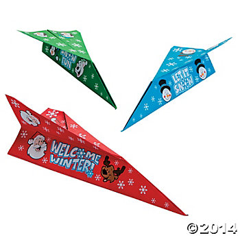 75% OFF: Christmas 11 Inch Airplanes - 24 Pk