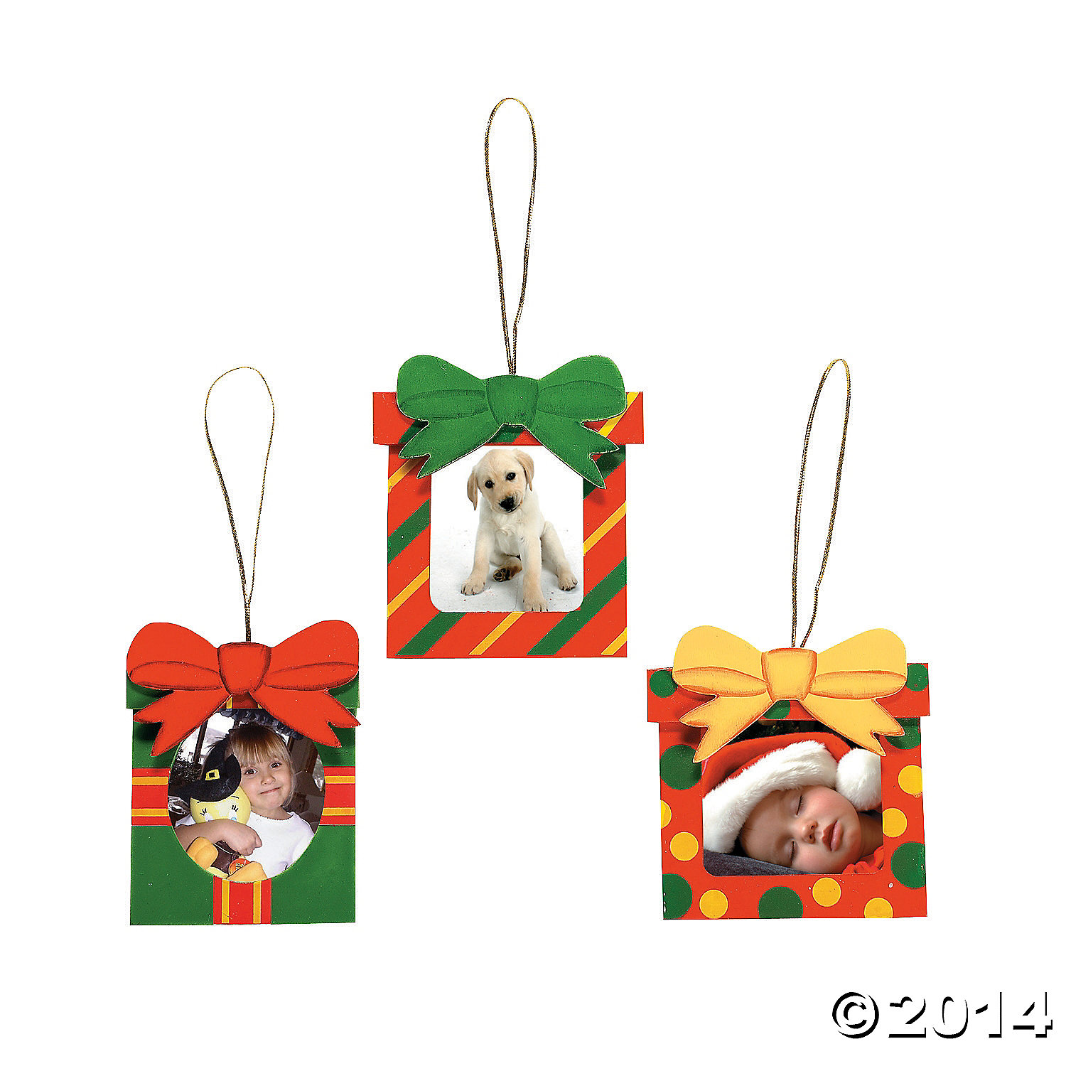 Christmas Gift Picture Frame Christmas Ornaments 12 Pk Party ...