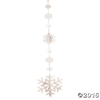 Sparkle Snowflakes 5 Ft. Hangers- 3 Pack