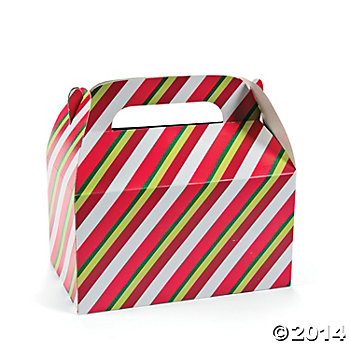 *Christmas Red/Green Full Size Loot Boxes - 12 Pk