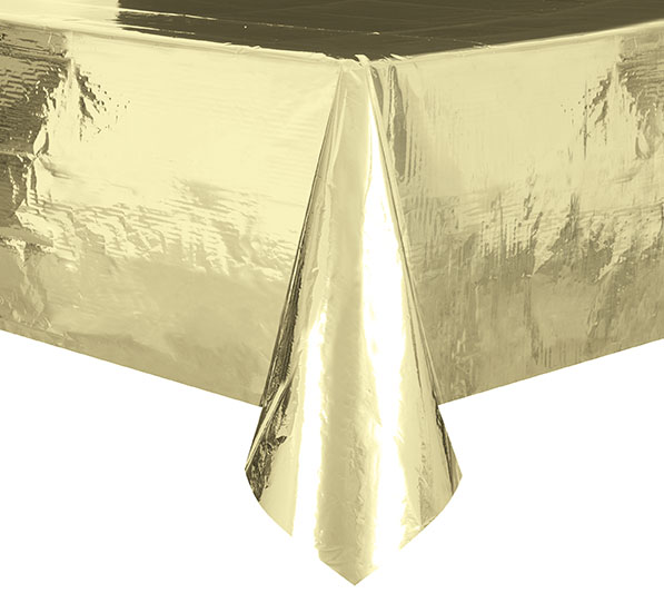 50% OFF: Gold Metallic Deluxe Tablecover