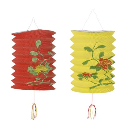 Chinese Decorated Lanterns - 2 Pk