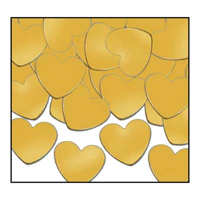 Gold Heart Fanci Confetti Bag