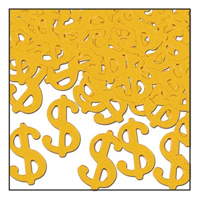 Casino: Gold Dollar Sign Confetti