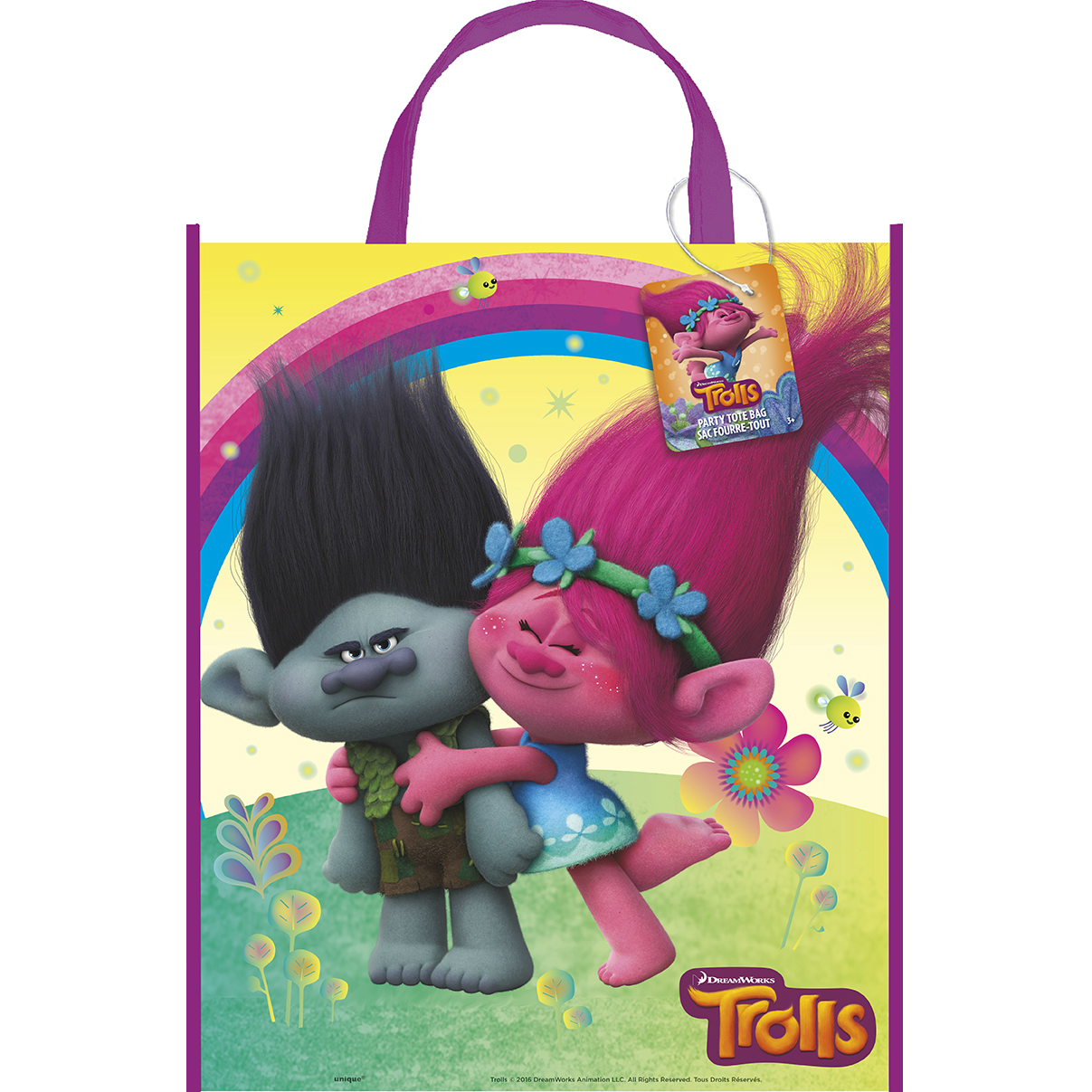 Trolls 13 quot plastic reusable tote bag w tag party supplies canada