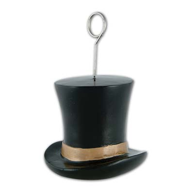 Top Hat Balloon/Photo Holder Gold