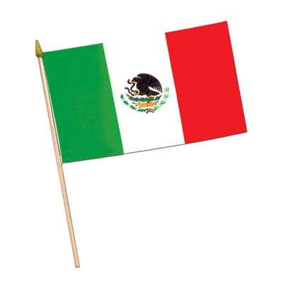 "Mexican Flag - Rayon 4"" x 6"""