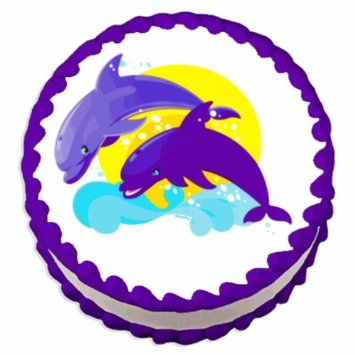 Dolphin Edible(PERSONALIZABLE) Cake Icing Image