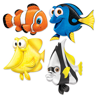 Under the Sea Fish Cutouts - 4pk