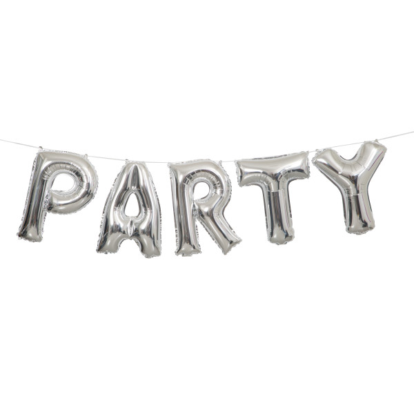 60% OFF: Silver Party 9 Foot Airfill Balloon Banner