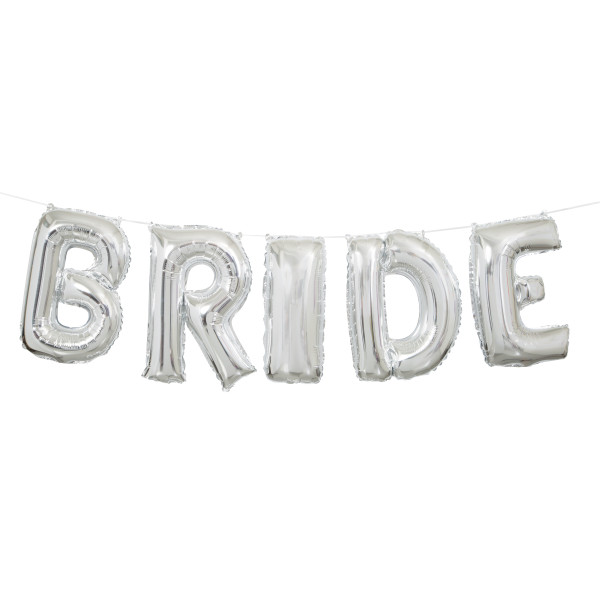 60% OFF: Silver Bride 9 Foot Airfill Balloon Banner