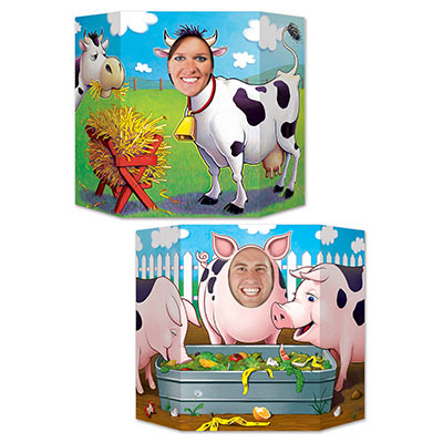Barnyard Friends 2 Sided Jumbo Photo Prop