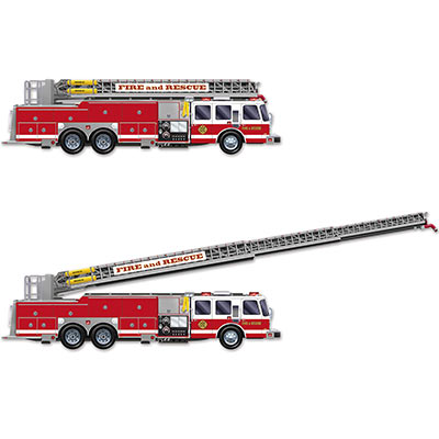 Fire Department: Gigantic 5 Ft Fire Truck with Jointed Ladder