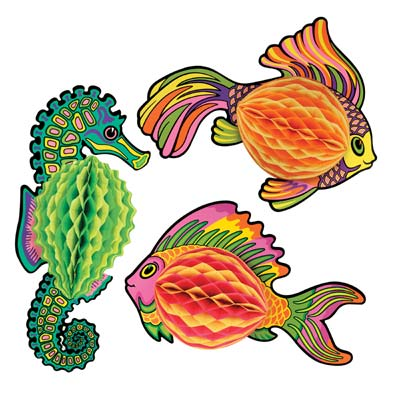 "18"" Tissue Fish - Assorted Designs"