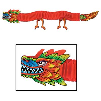 Chinese New Year: Tissue 6 Ft. Dragon