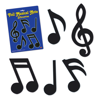 Music: Musical Notes Silhouettes - 12 Pack