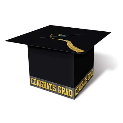 Grad Cap Card Box - Black