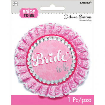 50% OFF: Large Elegant Bride To Be 4 inch Button