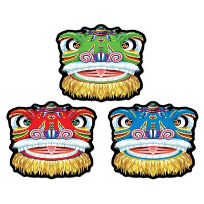 Chinese Dragon Big Cutouts - 3 Pk
