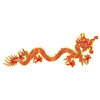 Chinese 6 Foot Jointed Dragon