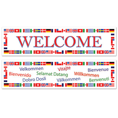 International 5 Ft. Welcome Banners - 2pk