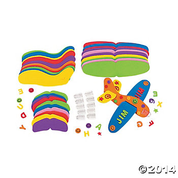 Foam Glider Planes Craft Kits - 12 Pk
