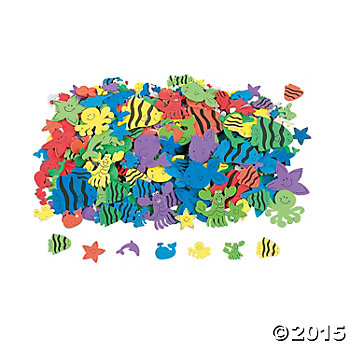 Under The Sea Foam Self Adhesive Shapes - 500 Pack