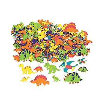 Foam Adhesive Dinosaur Shapes 500 Pk
