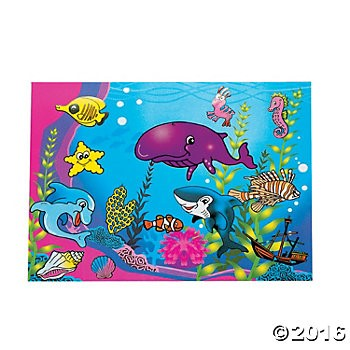 DIY Aquarium Sticker Scenes - 12pk