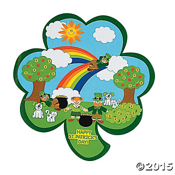 St. Patricks Build Your Own Big Sticker Scenes - 12 Pk