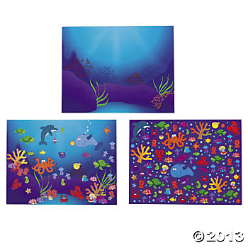 Sea DIY Under Large Sticker Scene Kits 12 PK