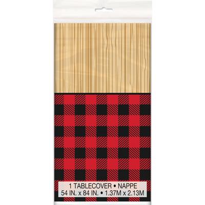 Lumberjack w/Wood Printed Plastic Tablecover
