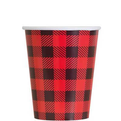 Lumberjack Plaid Party Cups - 8 Pk