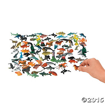 Sea Life Plastic Creatures - 90 Pack